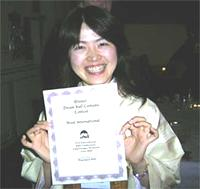 "Asuka, proud winner of the ""Most International"" Award at the 2004 Dream Ball"